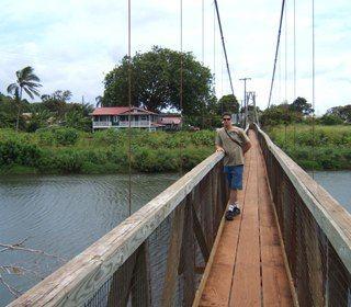 Aloha from Historic Hanapepe, Hanapepe Swinging Bridge