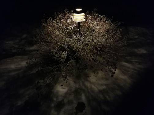 Pitkä valotusaika mahdollistaa pimeässä kuvaamisen.