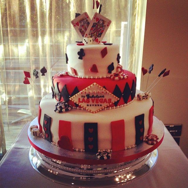 Casino Themed Wedding Cake
