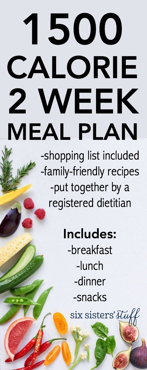 Check out our new 1500 Calorie 2 Week Meal Plan - includes ...