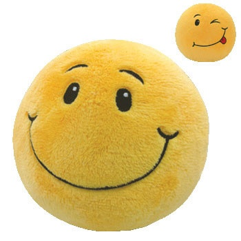 Ty Beanie Ballz - Smiley the Smiley face (Large 8 Inch)