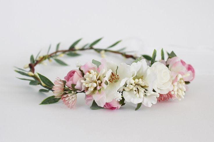 ✿ Delikatny kwiatowy wianek na głowę ✿  - kwiatysapiekne - Kwiaty do włosów
