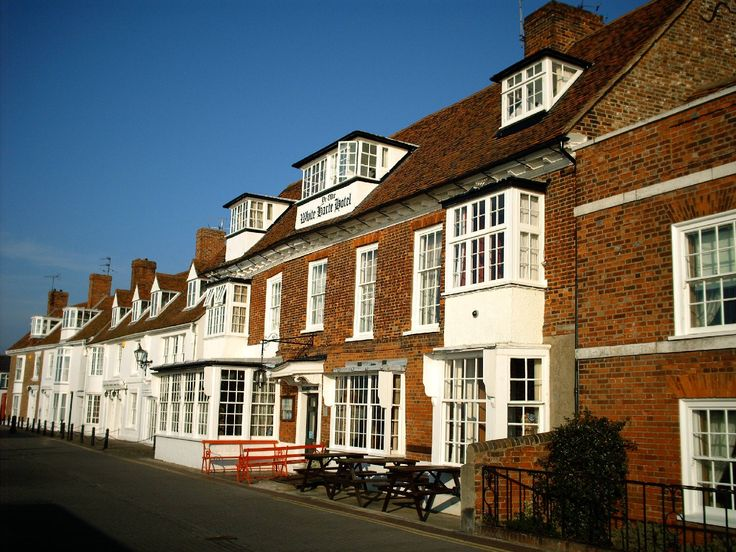 The White Harte Hotel, on the quay in Burnham-on-Crouch, Essex, England.