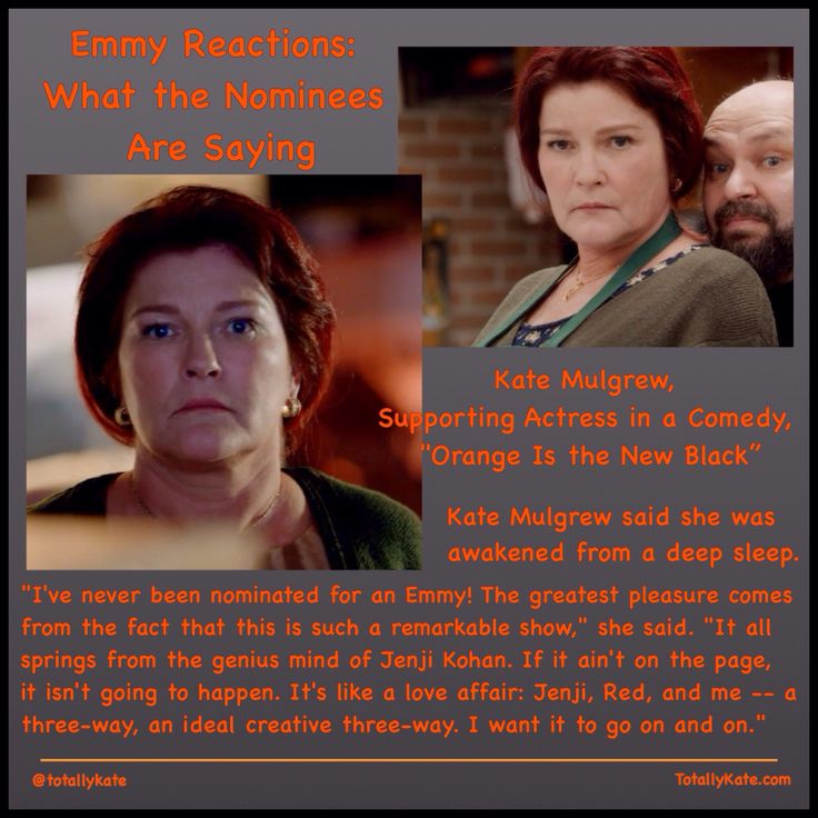 Kate Mulgrew's reaction to her Emmy nomination