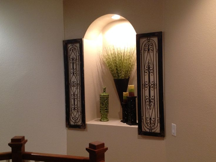 How to decorate wall cutout