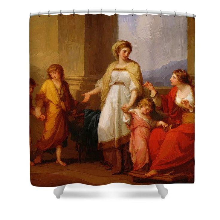 Cornelia Shower Curtain featuring the painting Cornelia Africana 1785 by Kauffman Angelica