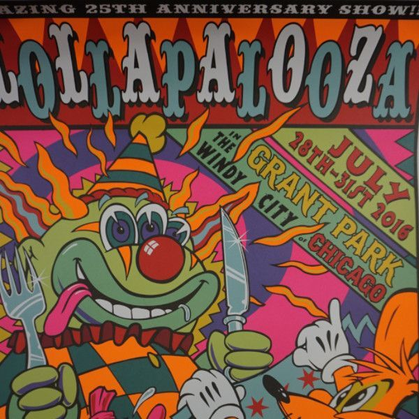 Lollapalooza - 2016 Frank Kozik poster Chicago, IL Grant Park