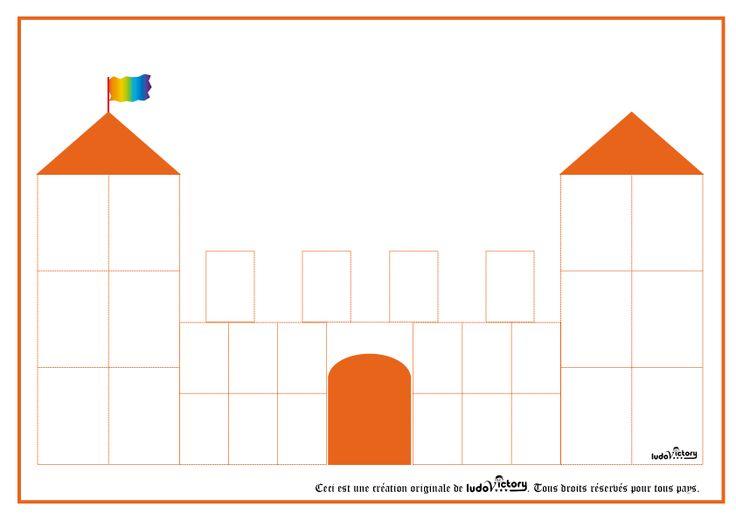 kasteel: leuk om deze eerst met blokken te bouwen en daarna in te kleuren op papier.