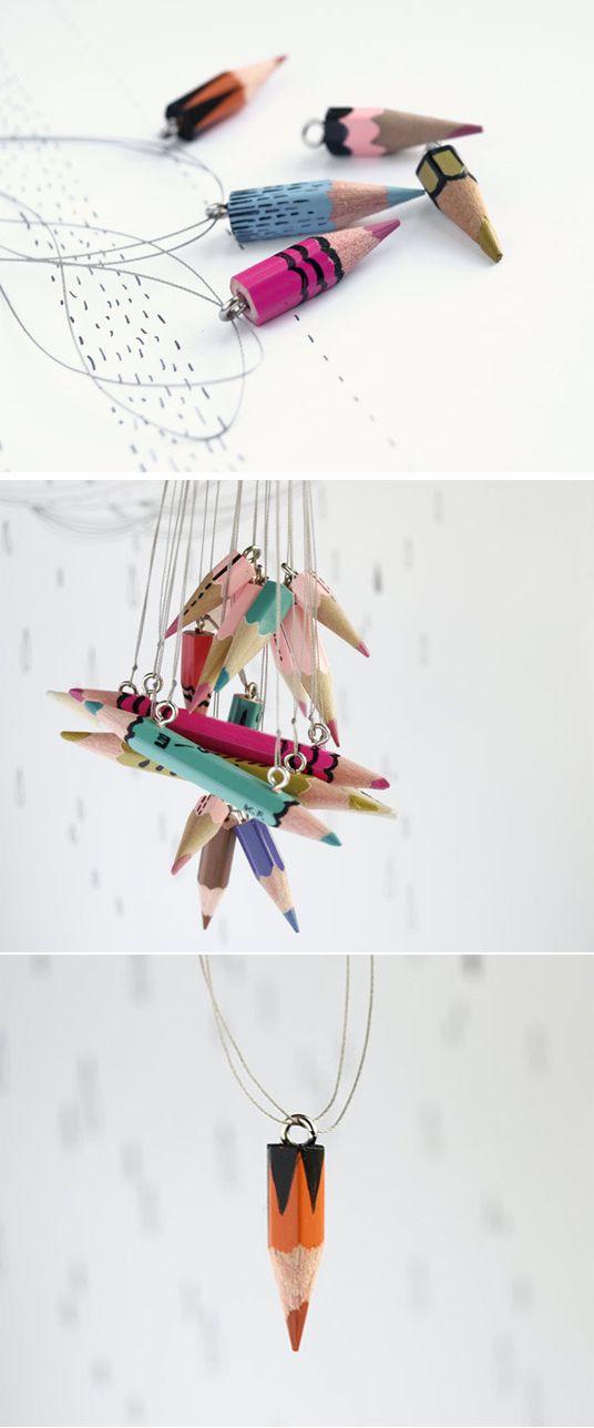 DIY: pencil necklace