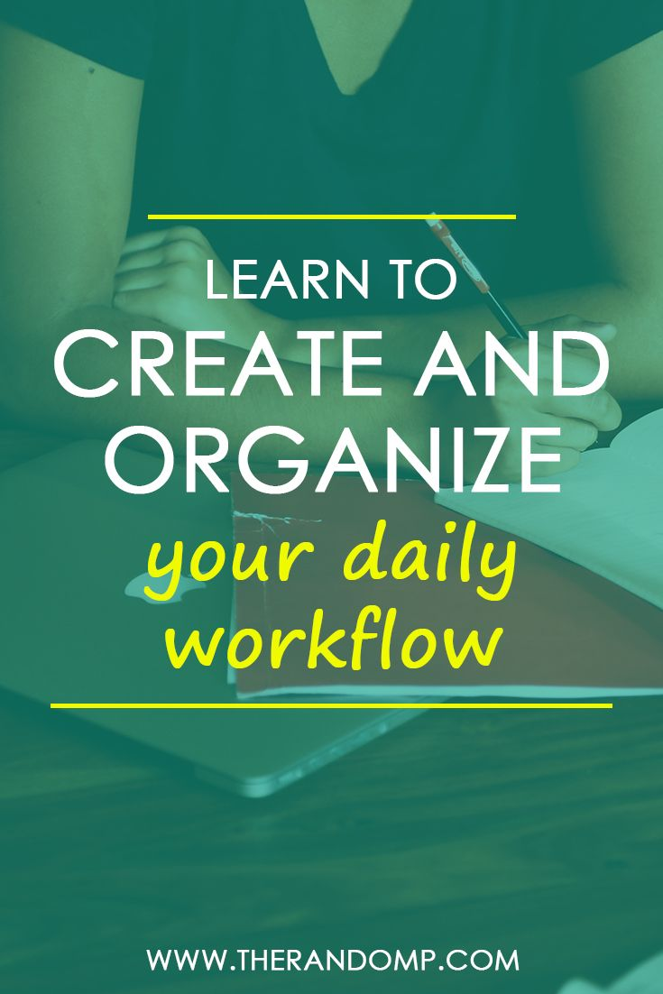 Learn to create and organize your daily workflow as a freelancer: http://therandomp.com/blog/organizing-planning-as-freelancer