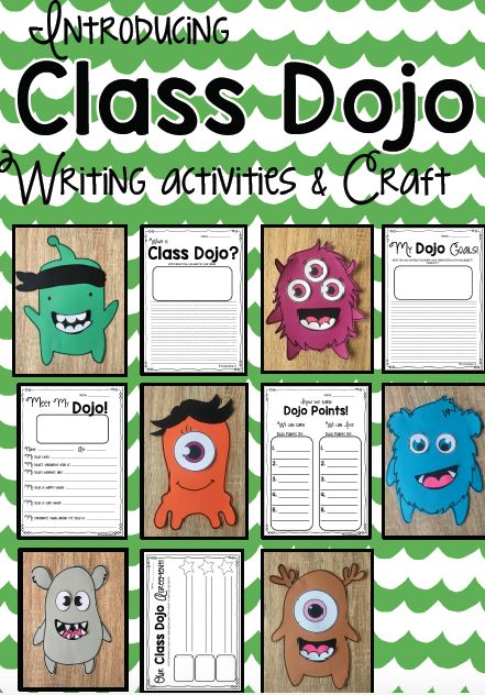 Class Dojo Writing and Craft Activities! A Fun and exciting way to introduce Class Dojo to your students!