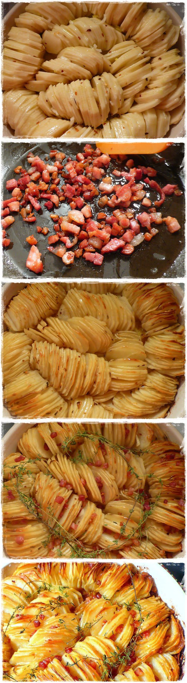 There are many way you can cook potatoes, but the recipe I found on Angela's website is by far one of the coolest :) I think for a dinner party this will m