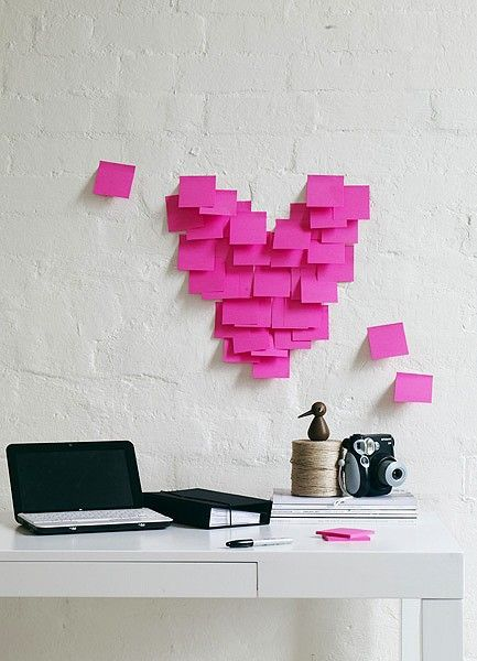 post it love... Maybe even better with messages on the post its and on a bathroom mirror in the am