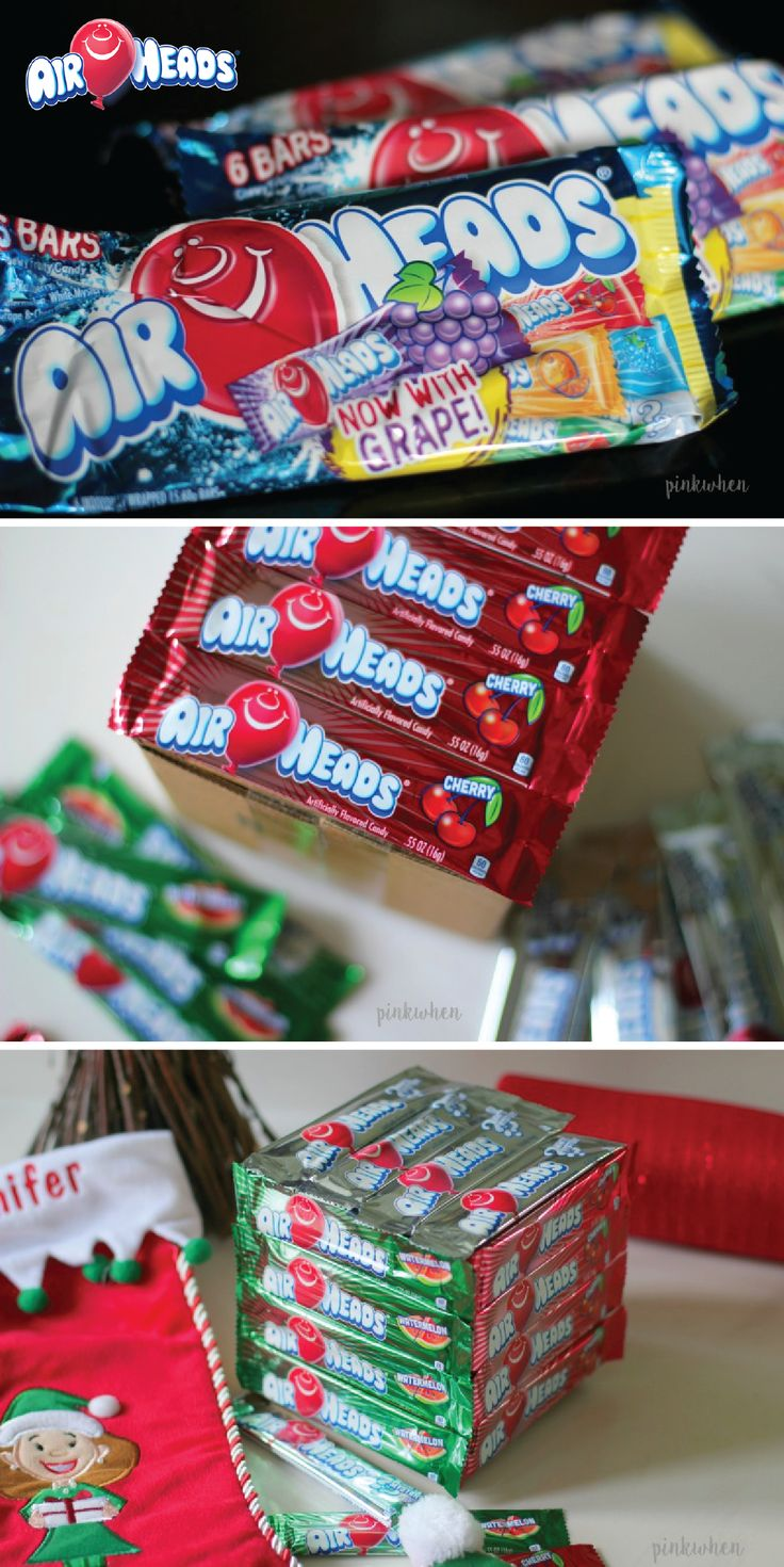 For a unique way to wrap your Christmas presents this year, try covering them in Airheads candy! Your kids will love being able to keep and snack on their wrapping paper made of their favorite candy, Airheads, after opening up their surprise inside! This peanut-free candy is perfect for gifting and sharing this holiday season.