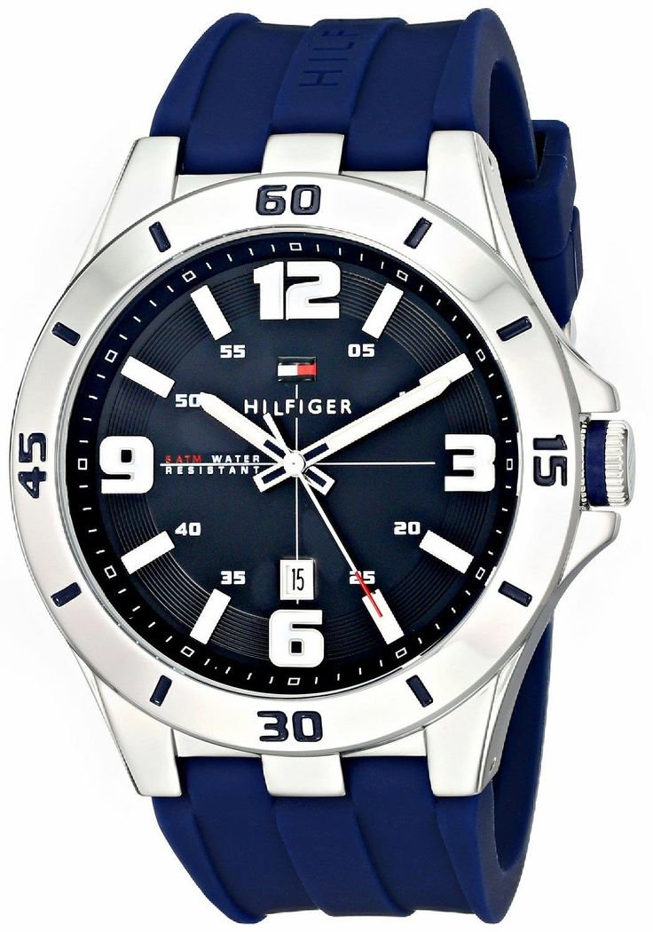 Fashion watch from a great brand. TOMMY HILFIGER 1791062 Stainless Steel Watch with Blue Silicone Band. Great style, great colors, great quality. #TOMMYHILFIGER  #KhaValeri www.pinterest.com/khavaleri/    kha_amz_THFblue0305_v29
