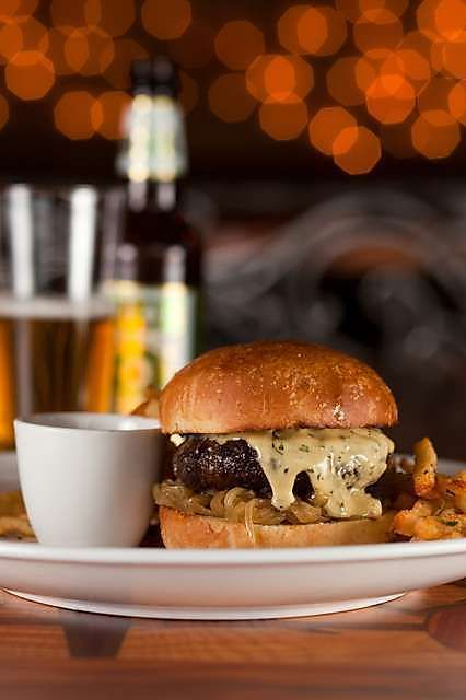 Toulouse Petit burger with Dixie beer