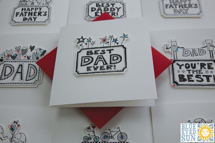 Carnival Father's Day cards - Blue Eyed Sun