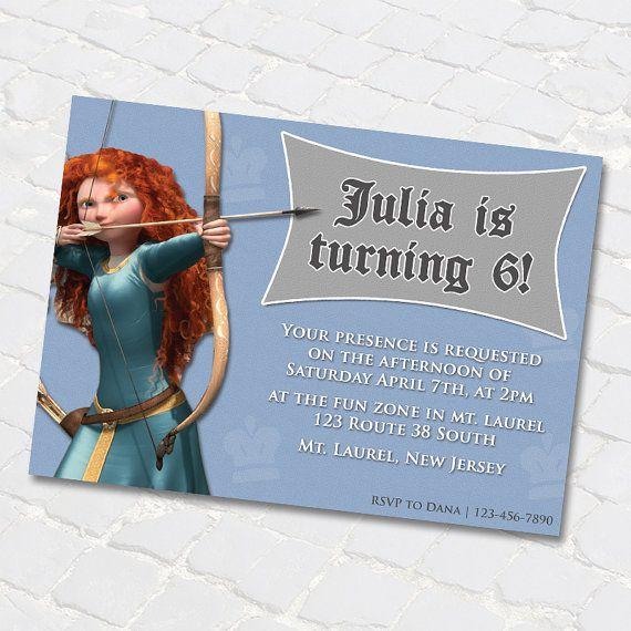 Princess Merida from Brave Birthday Invitations by anthonypingicer, $7.00