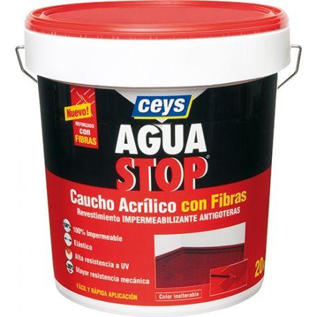 Impermeabilizante aquastop caucho acrilico con fibras blanco 1 kg, pintura impermeabilizante, las mejores marcas, Sicka, Aquastop, Ceys | Ferreteria Online