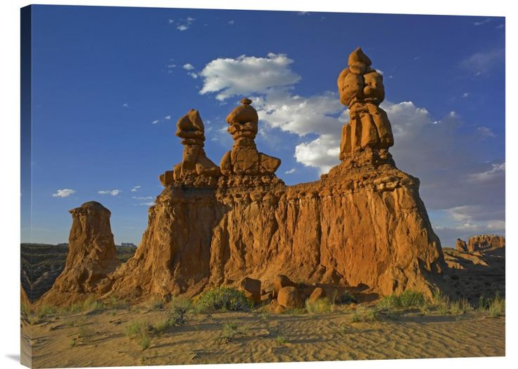 Eroded Sandstone, The Three Judges, Goblin Valley State Park, Utah