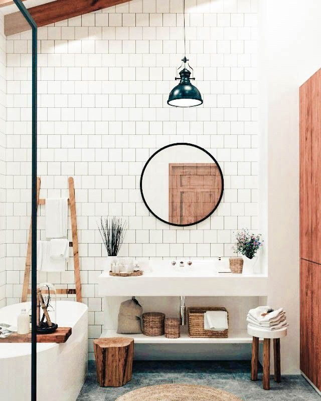Nomadic Fabrics On Instagram The Natural Light In This Bathroom Is A Dream Curre Home Remodeling House Interior Bathroom Inspiration