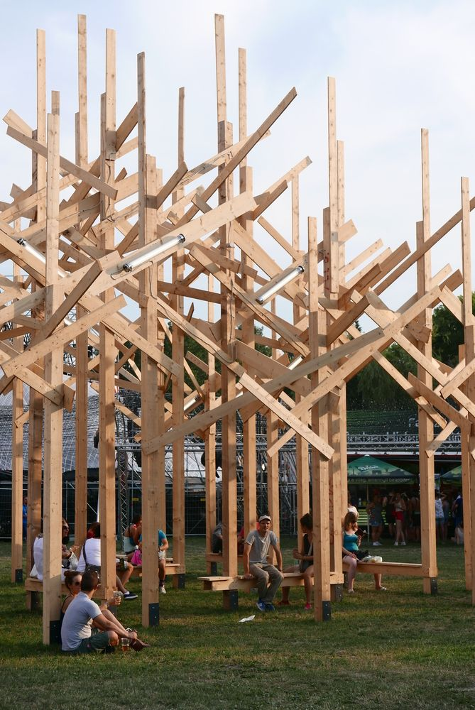Gallery - Atelier YokYok Creates Wood Forest Installation in Budapest - 3