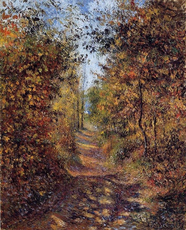 A Path in the Woods, Pontoise (1879) | Camille Pissarro