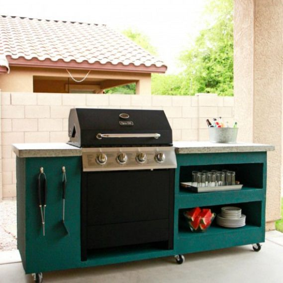 Rolling Outdoor Bbq Island Learn How To Make This Rolling Outdoor Bbq Island With Free Buildi Diy Outdoor Kitchen Outdoor Kitchen Design Outdoor Grill Station
