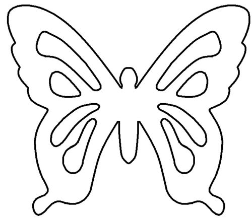 Simple Butterfly Coloring Book Kids Coloring Pages