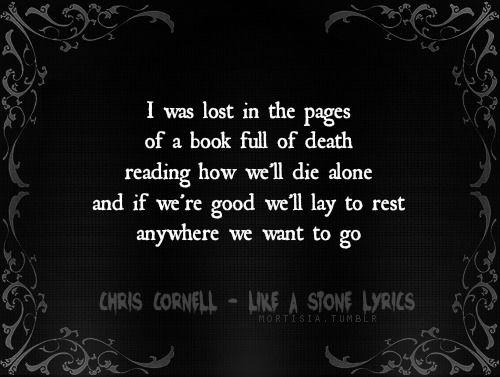 Chris Cornell - Like A Stone [ Lyrics ]