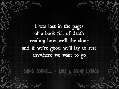 Chris Cornell - Like A Stone [ Lyrics ]