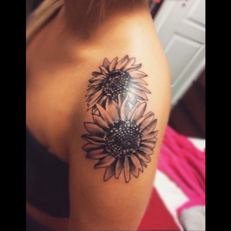 Sunflowers shoulder tattoo