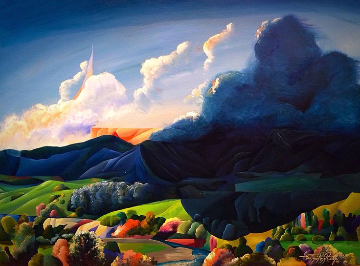 """""""Everything the Light Touches"""" Pohangina Valley, Manawatu, NZ. T Riddle, 2015 www.tammieriddleartist.com"""