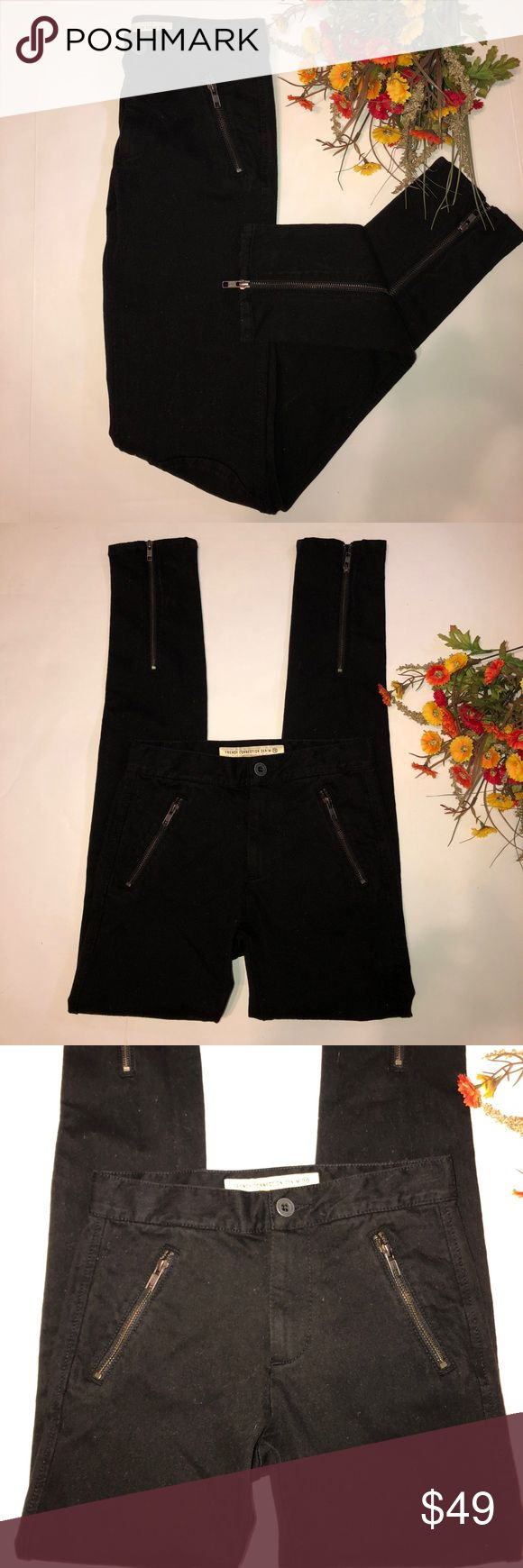 """French Connection Denim •Skin Tight •Jeans Size 2 French Connection Denim Skin Tight Jeans Size  Brand New• 30"""" Inseam• Rear ankle zip closure• front slanted zippers• French Connection Jeans Skinny"""
