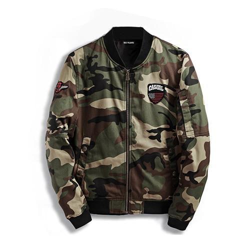 BOYUAN Spring Autumn Mens Casual Camouflage Jackets Men Clothing Men's Windbreaker Coat Male Outwear Bomber Jacket MenDSW272
