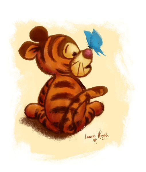Baby Tigger Art Print by Leanne Huynh   Society6