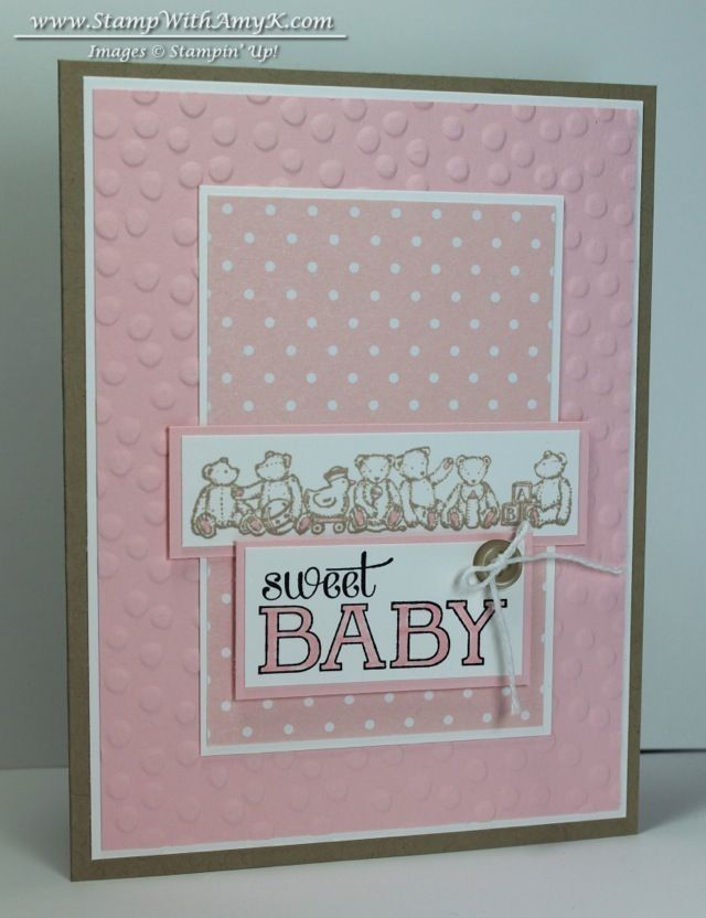 157 best Stampin Up - Baby cards images on Pinterest   Baby cards ...