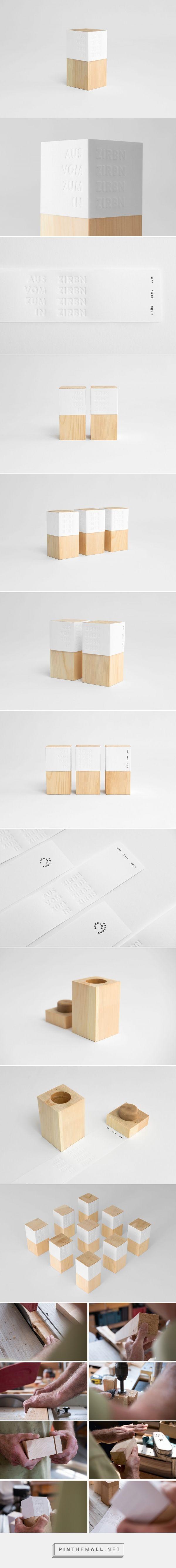Zirbnlikör spirits and liquors packaging design by Zunder - http://www.packagingoftheworld.com/2017/02/zirbnlikor.html