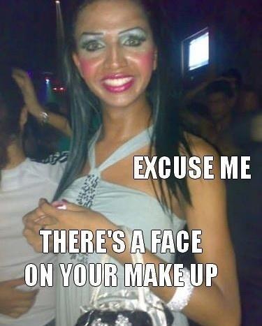 hahahahahahahahahaahThoughts, Cake, Mirrors, Girls, Friends, God, Makeup Fail, So Funny, Clowns