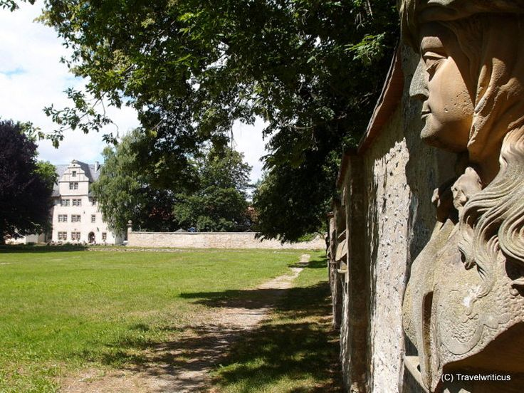Garden of Kromsdorf Renaissance Palace in Thuringia, Germany
