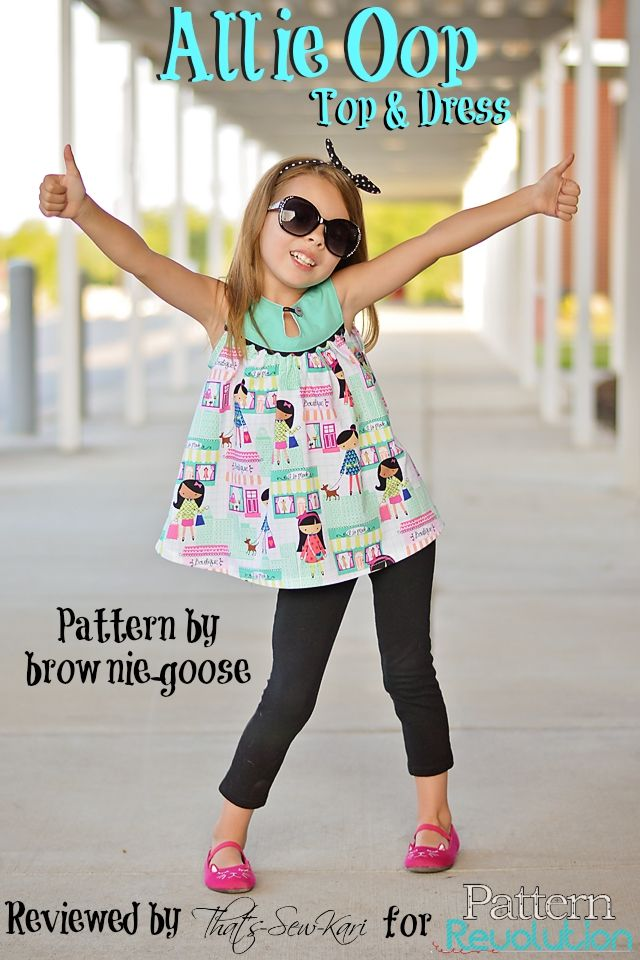 REVIEW: Brownie-Goose Allie Oop Top and Dress featuring Michael Miller LA Boutique Girl fabric