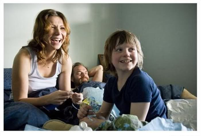 Hugo Weaving, Tom Russell and Anita Heghe on the set of Last Ride (rehearsals)