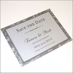 Save the Date Cards with Crystals and patterned cards