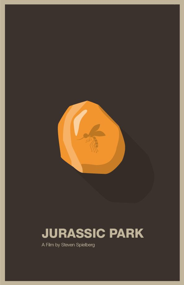 Minimal poster design for Jurassic Park : by dzingeek
