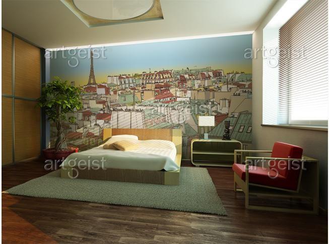 Fotomurale Buongiorno Parigi! #fotomurali #fotomurale #design #decorazione #d'interni #carta #da #parati
