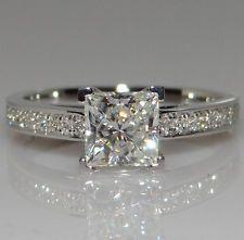 Белый сапфир камень 925 серебро заполненный свадебное кольцо подарок размер 6-10