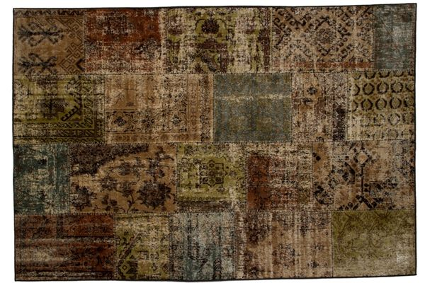 Casa Uno Viscose Home Carpet Area Rug Matrix Patch Multicolor- New
