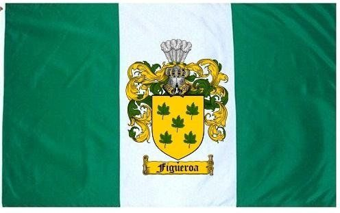 $49.99 Figueroa Family Crest / Coat of Arms Flag. Large 3 ft. x 5 ft. polyester flags.
