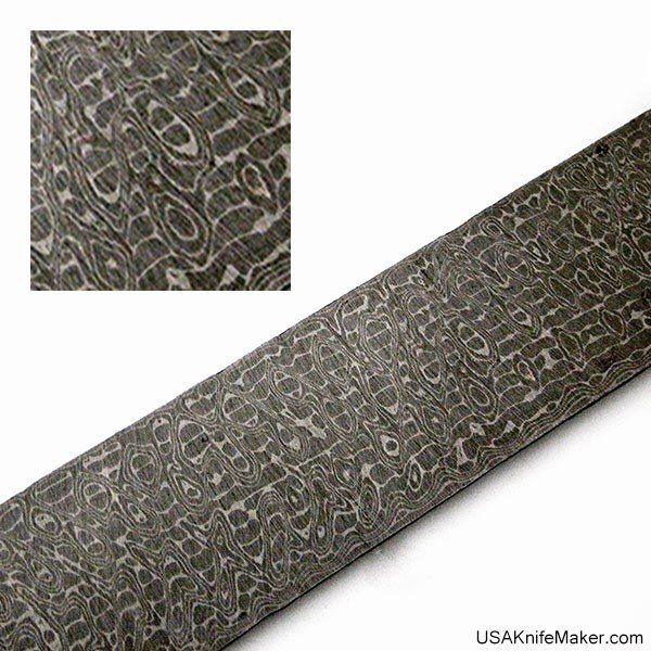 Damascus Steel by Chad Nichols - Intrepid Pattern - Carbon Steel