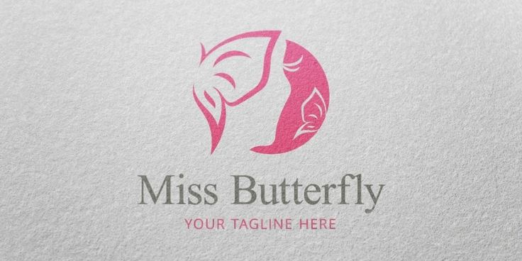 Miss Butterfly Logo Template for Sale: 29$ + TVA